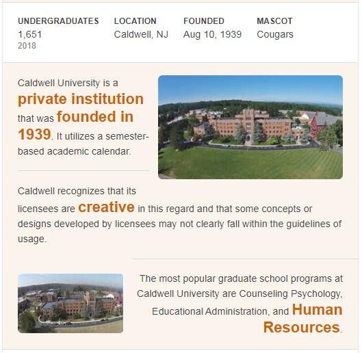 Caldwell College History