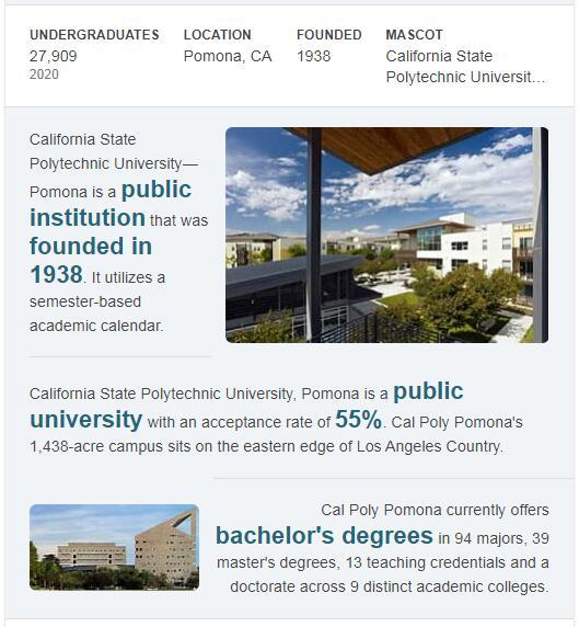 California State Polytechnic University-Pomona History