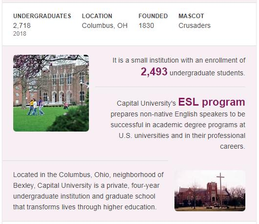 Capital University History