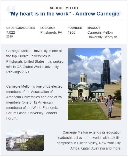 Carnegie Mellon University History