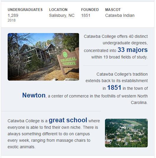 Catawba College History