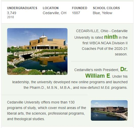 Cedarville University History