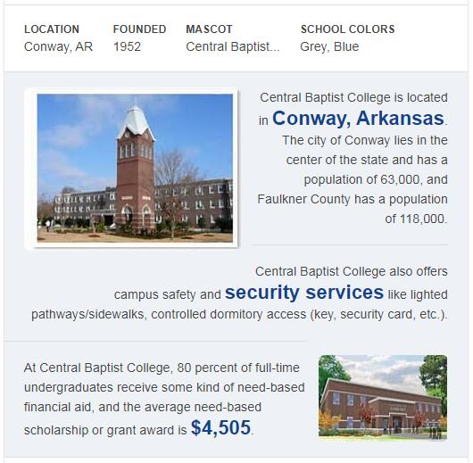 Central Baptist College History