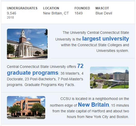Central Connecticut State University History