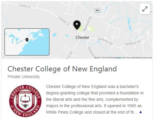 Chester College of New England History