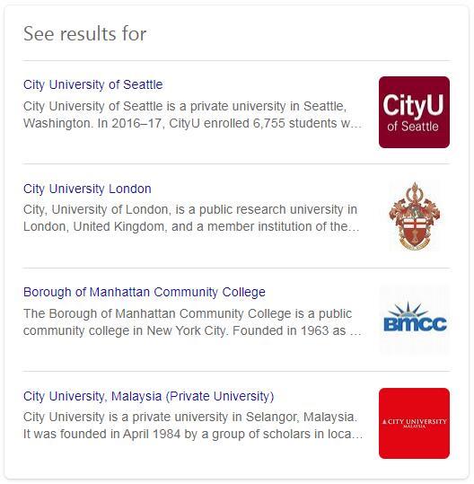 City University History