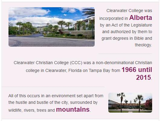 Clearwater Christian College History