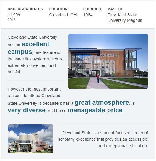 Cleveland State University History