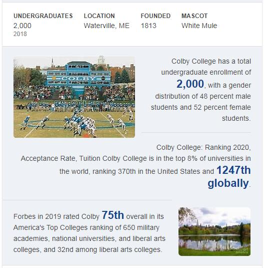 Colby College History