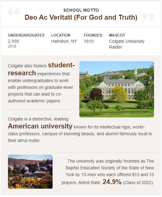 Colgate University History