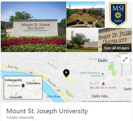 College of Mount St. Joseph History