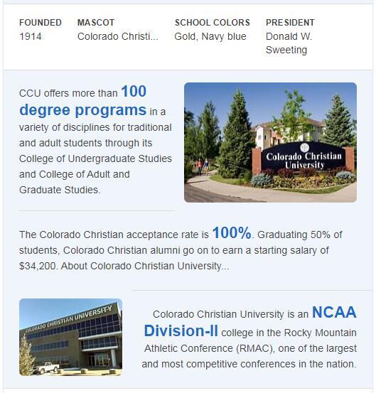 Colorado Christian University History