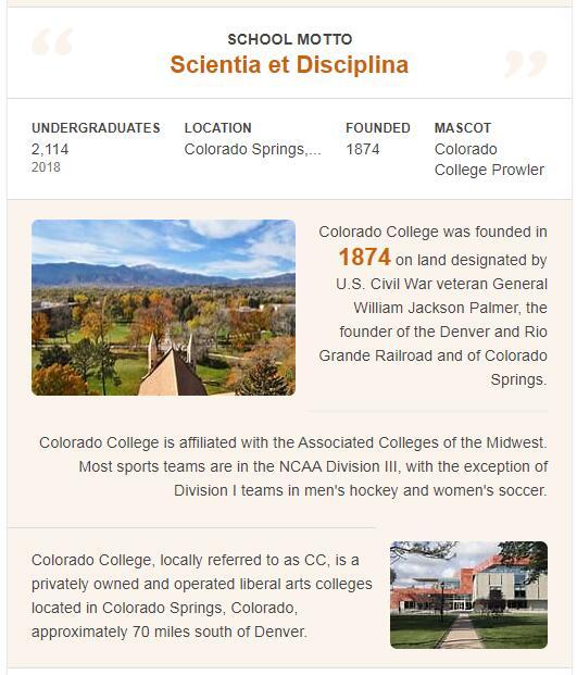 Colorado College History