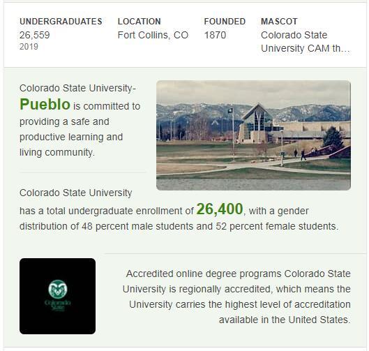 Colorado State University History