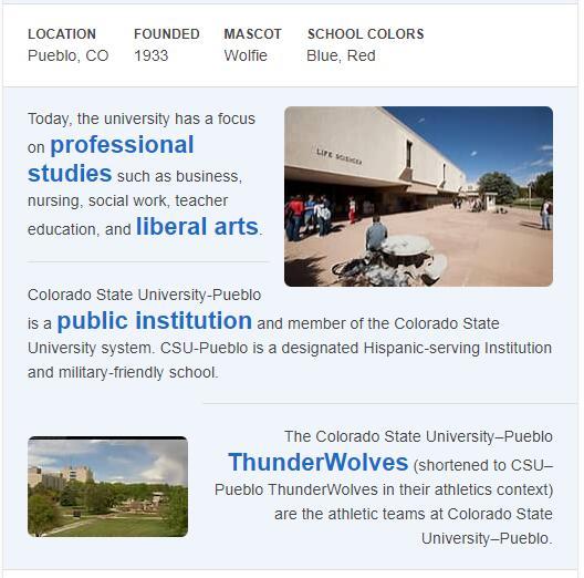 Colorado State University-Pueblo History