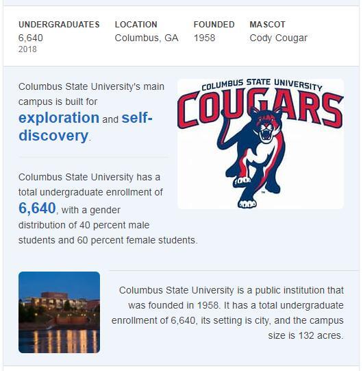 Columbus State University History