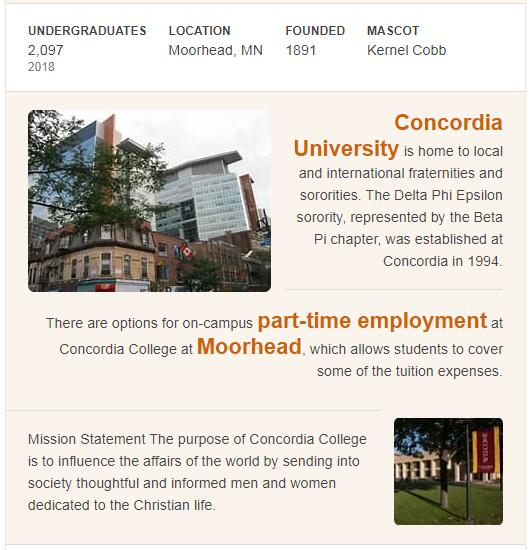 Concordia College-Moorhead History