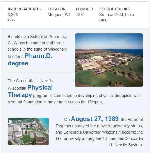 Concordia University Wisconsin History