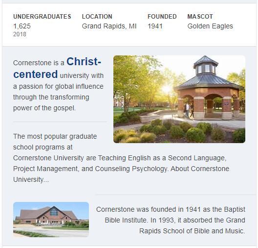 Cornerstone University History