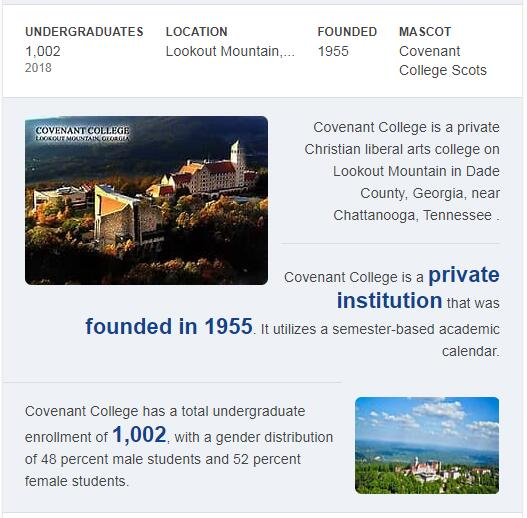 Covenant College History