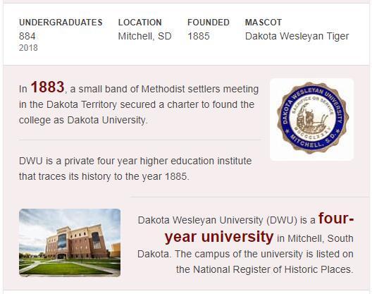 Dakota Wesleyan University History
