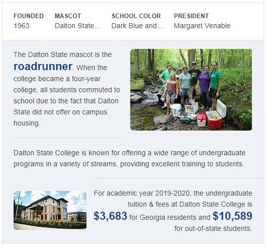 Dalton State College History