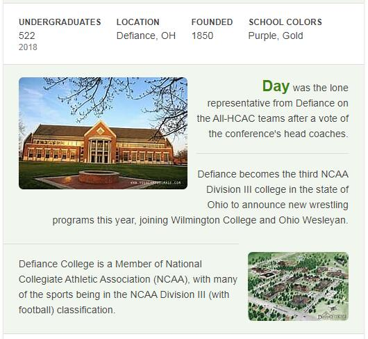 Defiance College History