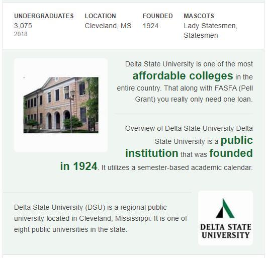 Delta State University History