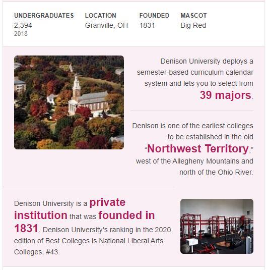 Denison University History