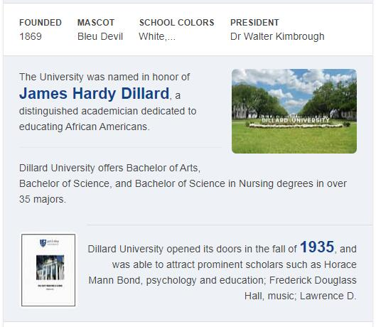 Dillard University History