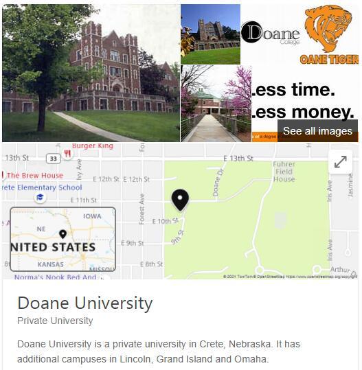 Doane College History