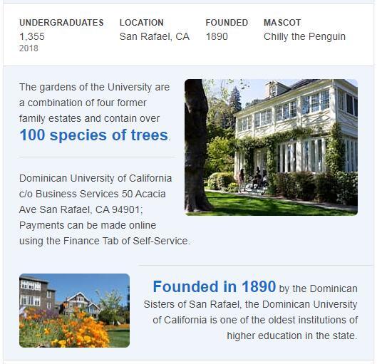 Dominican University of California History