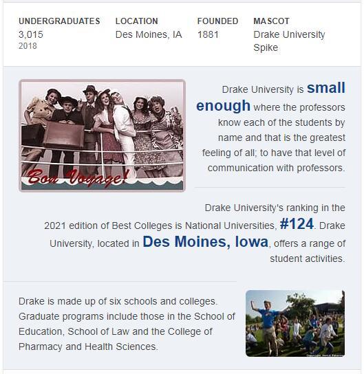 Drake University History