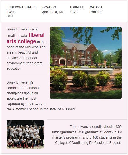Drury University History