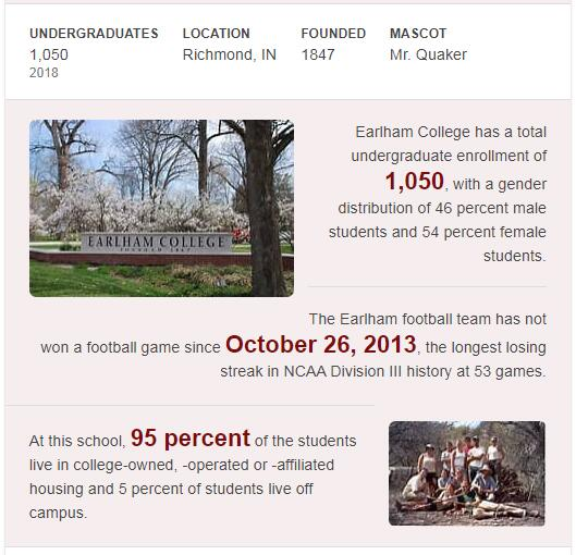 Earlham College History
