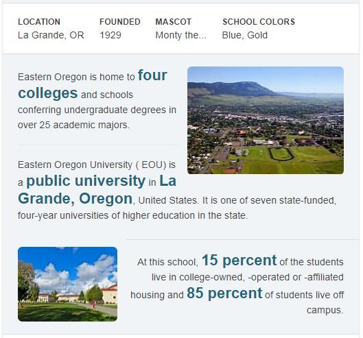 Eastern Oregon University History