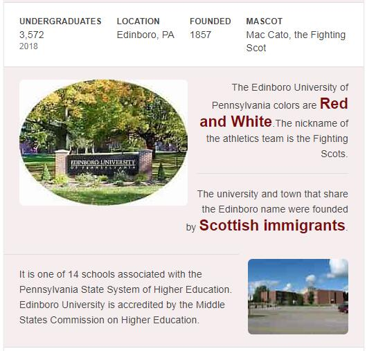 Edinboro University of Pennsylvania History