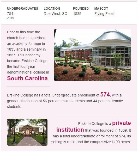 Erskine College History