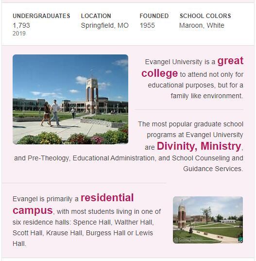 Evangel University History