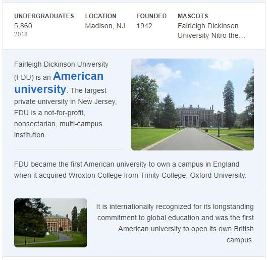 Fairleigh Dickinson University History