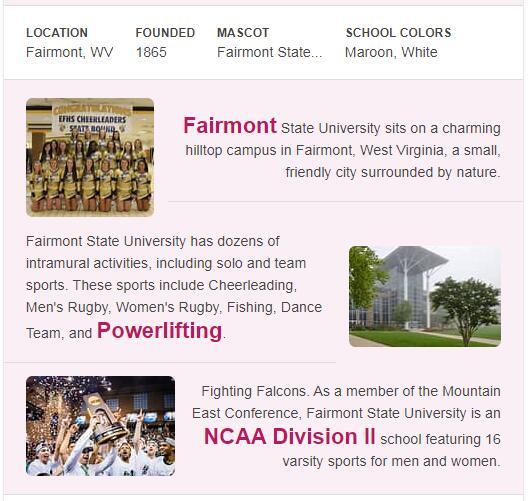 Fairmont State University History