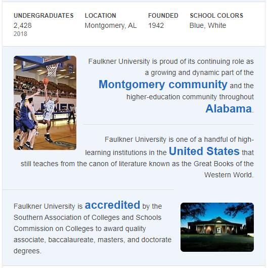 Faulkner University History