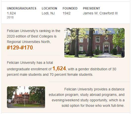 Felician College History