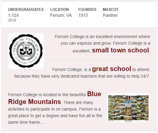 Ferrum College History