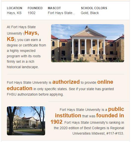 Fort Hays State University History