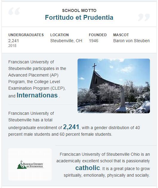 Franciscan University of Steubenville History