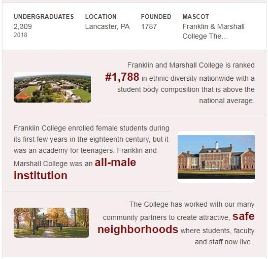 Franklin and Marshall College History