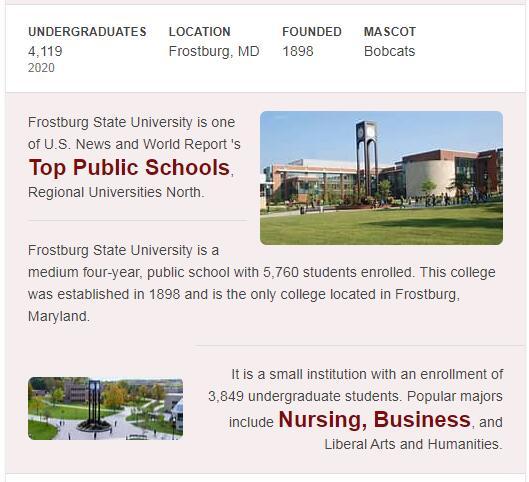 Frostburg State University History