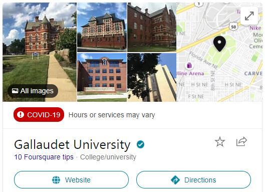 Gallaudet University History