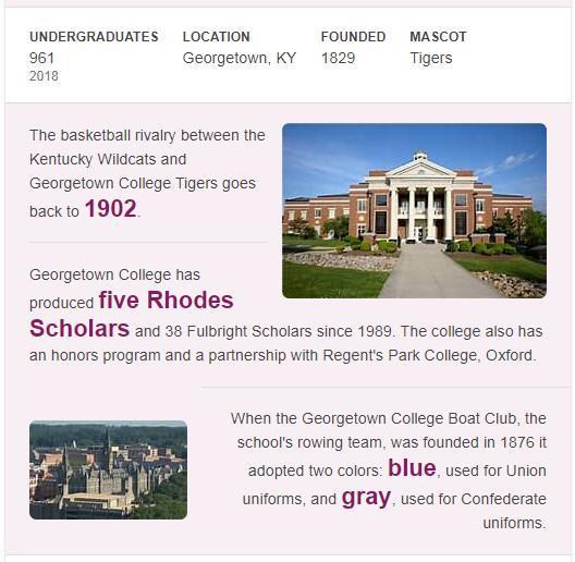 Georgetown College History